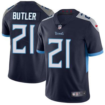 Nike Titans #21 Malcolm Butler Navy Blue Alternate Men's Stitched NFL Vapor Untouchable Limited Jersey