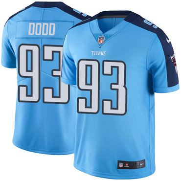Nike Titans #93 Kevin Dodd Light Blue Men's Stitched NFL Limited Rush Jersey