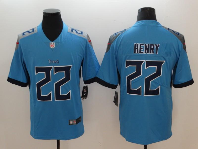 Nike Titans 22 Derrick Henry Light Blue Vapor Untouchable Player Limited Jersey
