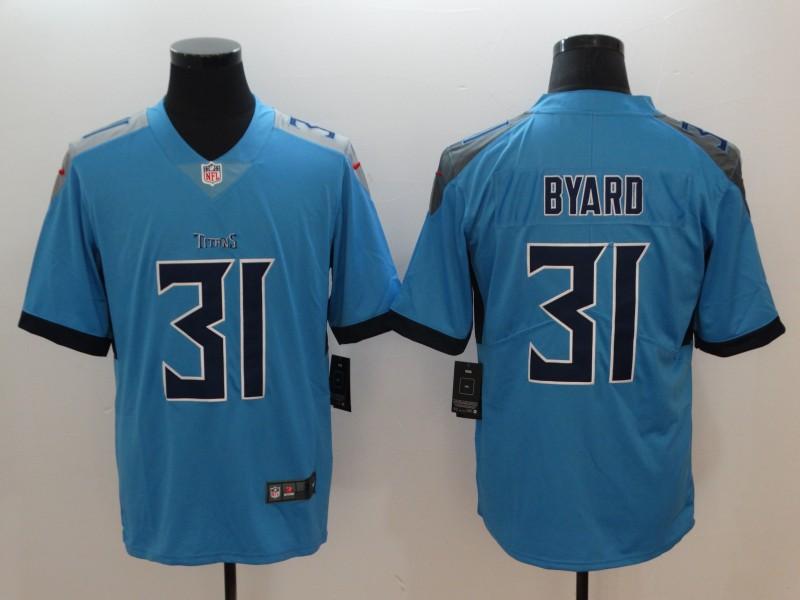 Nike Titans 31 Kevin Byard Light Blue Vapor Untouchable Player Limited Jersey