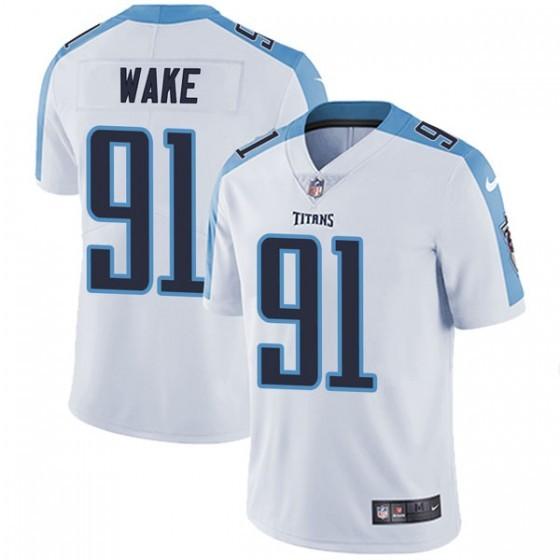 Nike Titans 91 Cameron Wake White Vapor Untouchable Limited Jersey