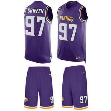 big sale 40d84 85e33 Nike Vikings #97 Everson Griffen Purple Team Color Men's ...