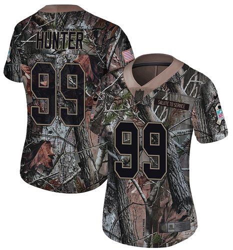 Nike Vikings #99 Danielle Hunter Camo Women's Stitched NFL Limited Rush Realtree Jersey