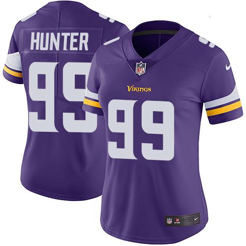 Nike Vikings #99 Danielle Hunter Purple Team Color Women's Stitched NFL Vapor Untouchable Limited Jersey
