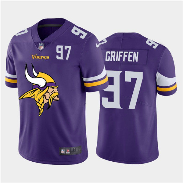 Nike Vikings 97 Everson Griffen Purple Team Big Logo Number Vapor Untouchable Limited Jersey