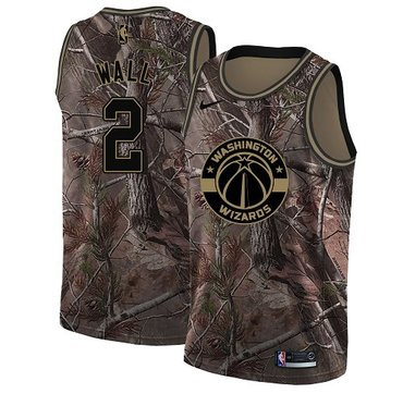 Nike Wizards #2 John Wall Camo NBA Swingman Realtree Collection Jersey