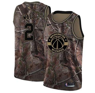 Nike Wizards #2 John Wall Camo Women's NBA Swingman Realtree Collection Jersey