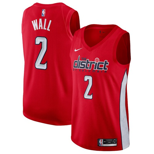 Nike Wizards #2 John Wall Red NBA Swingman Earned Edition Jersey