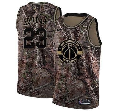 Nike Wizards #23 Michael Jordan Camo NBA Swingman Realtree Collection Jersey