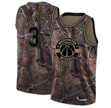 Nike Wizards #3 Bradley Beal Camo NBA Swingman Realtree Collection Jersey