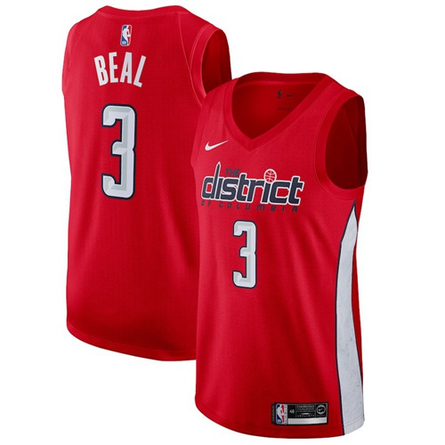 Nike Wizards #3 Bradley Beal Red NBA Swingman Earned Edition Jersey