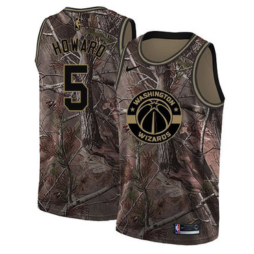 Nike Wizards #5 Juwan Howard Camo NBA Swingman Realtree Collection Jersey