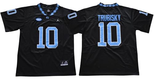North Carolina #10 Mitchell Trubisky Black Limited Stitched NCAA Jersey