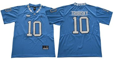 North Carolina #10 Mitchell Trubisky Blue Limited Stitched NCAA Jersey