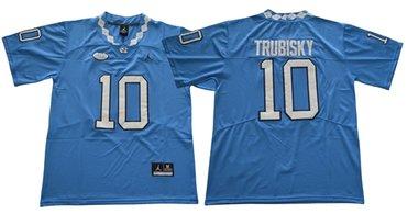 North Carolina #10 Mitchell Trubisky Blue Limited Stitched NCAA Jersey