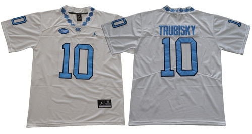 North Carolina #10 Mitchell Trubisky White Limited Stitched NCAA Jersey
