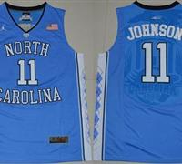 North Carolina #11 Brice Johnson Blue Basketball Stitched NCAA Jersey