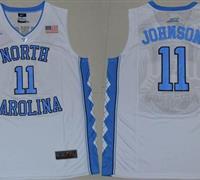 North Carolina #11 Brice Johnson White Basketball Stitched NCAA Jersey