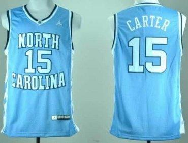 North Carolina #15 Vince Carter Blue Stitched NCAA Jersey