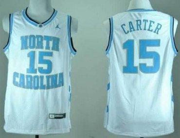 North Carolina #15 Vince Carter White Stitched NCAA Jersey