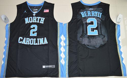 North Carolina #2 Joel Berry II Black Basketball Stitched NCAA Jersey
