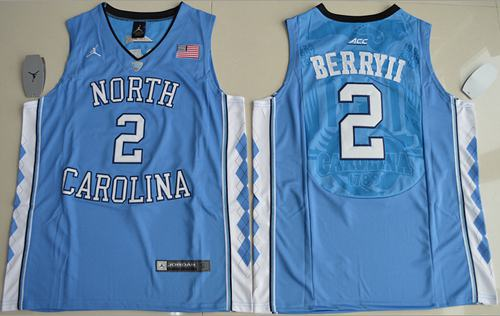 North Carolina #2 Joel Berry II Blue Basketball Stitched NCAA Jersey