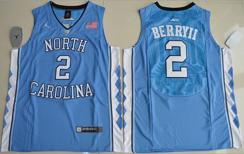 North Carolina #2 Joel Berry II Blue Basketball Stitched NCAA Jersey