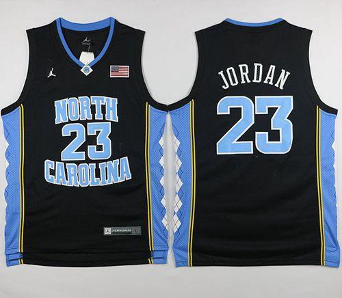 North Carolina #23 Michael Jordan Black Basketball Stitched NCAA Jersey