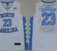 North Carolina #23 Michael Jordan White Stitched NCAA Jersey