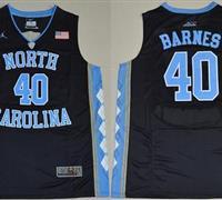 North Carolina #40 Harrison Barnes Black Basketball Stitched NCAA Jersey
