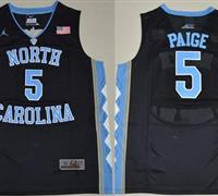 North Carolina #5 Marcus Paige Black Basketball Stitched NCAA Jersey