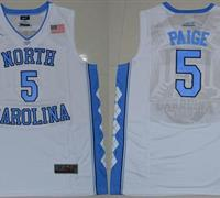 North Carolina #5 Marcus Paige White Basketball Stitched NCAA Jersey