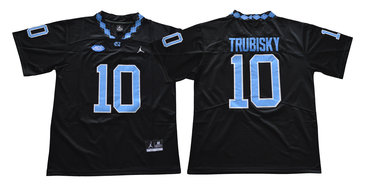 North Carolina Tar Heels 10 Mitch Trubisky Black College Football Jersey
