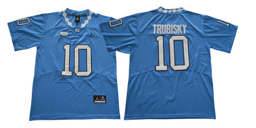 North Carolina Tar Heels 10 Mitch Trubisky Blue College Football Jersey
