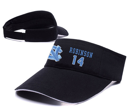 North Carolina Tar Heels 14 Brandon Robinson Black College Basketball Adjustable Visor