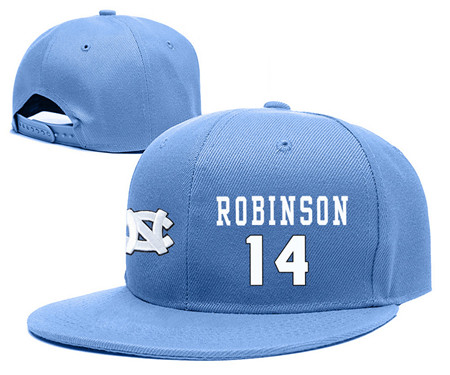 North Carolina Tar Heels 14 Brandon Robinson Blue College Basketball Adjustable Hat
