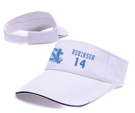 North Carolina Tar Heels 14 Brandon Robinson White College Basketball Adjustable Visor