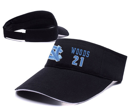 North Carolina Tar Heels 21 Seventh Woods Black College Basketball Adjustable Visor