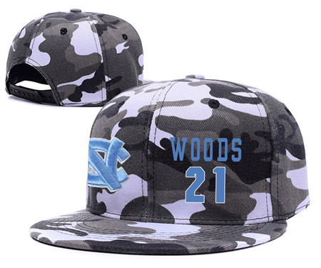 North Carolina Tar Heels 21 Seventh Woods Gray Camo College Basketball Adjustable Hat