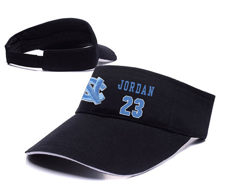 North Carolina Tar Heels 23 Michael Jordan Black College Basketball Adjustable Visor