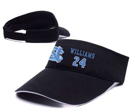 North Carolina Tar Heels 24 Kenny Williams Black College Basketball Adjustable Visor