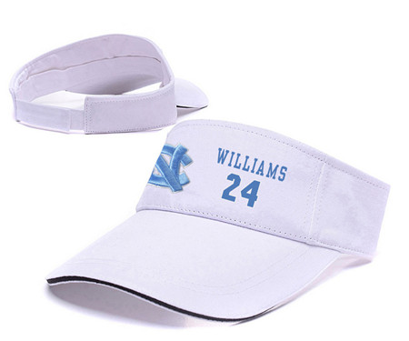 North Carolina Tar Heels 24 Kenny Williams White College Basketball Adjustable Visor