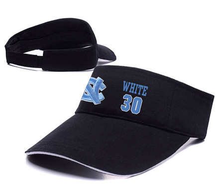 North Carolina Tar Heels 30 Stilman White Black College Basketball Adjustable Visor