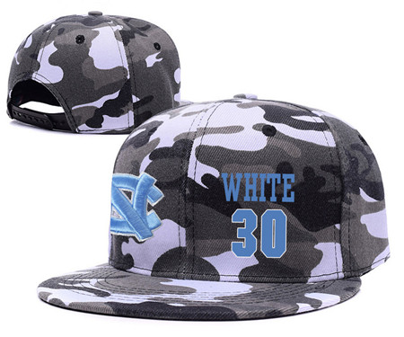 North Carolina Tar Heels 30 Stilman White Gray Camo College Basketball Adjustable Hat