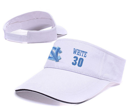North Carolina Tar Heels 30 Stilman White White College Basketball Adjustable Visor