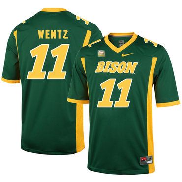 North Dakota State Bison 11 Carson Wentz Green College Football Jersey