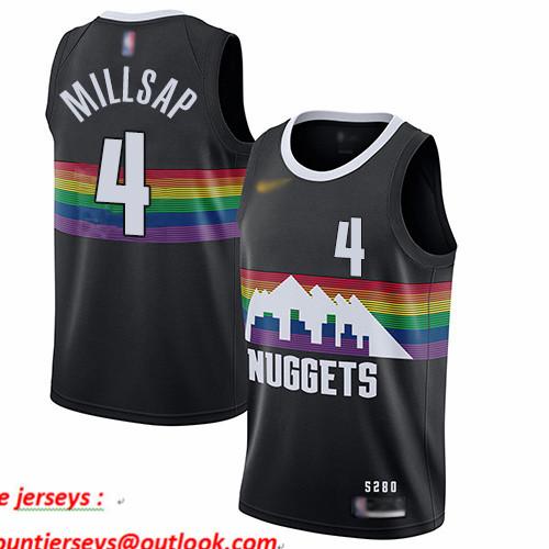 Nuggets #4 Paul Millsap Black Basketball Swingman City Edition 2019 20 Jersey