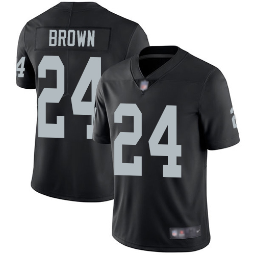 Oakland Raiders #24 Willie Brown Men's Vapor Untouchable Limited Home Black Jersey