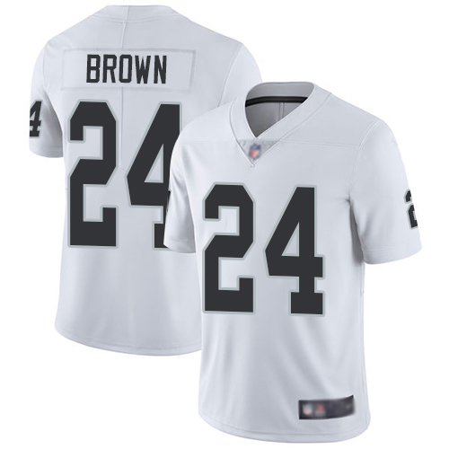 Oakland Raiders #24 Willie Brown Men's Vapor Untouchable Limited White Jersey