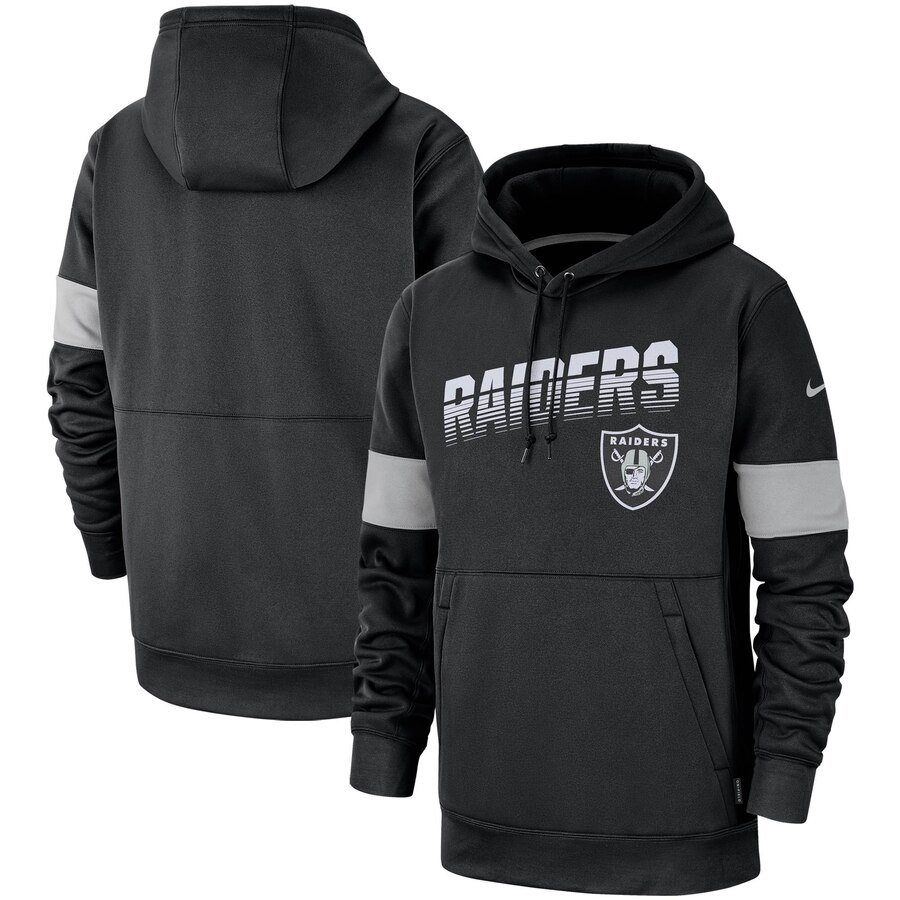 Oakland Raiders Nike Sideline Team Logo Performance Pullover Hoodie Black